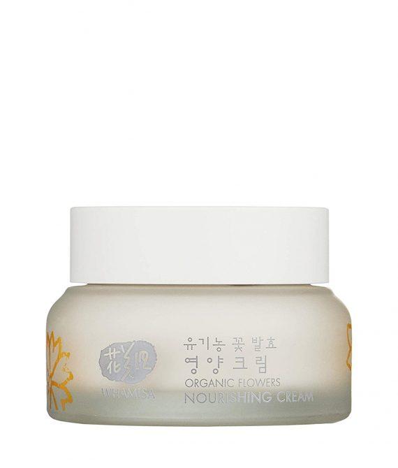 WHAMISA Organic Flowers Nourishing Cream – Reichhaltige Feuchtigkeits-Creme gegen Hautalterung mit K-Beauty