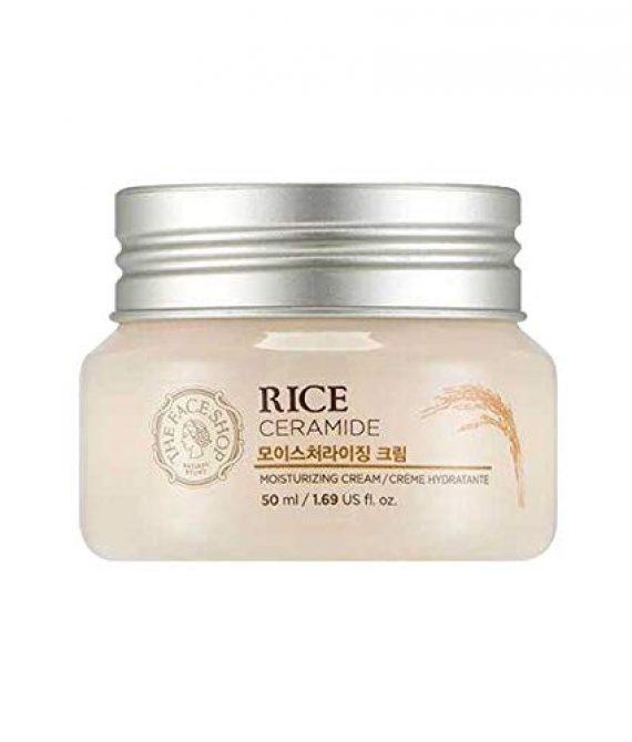 The Face Shop – Rice & Ceramide Feuchtigkeitscreme – Gesichtscreme mit Reis Extrakt und Ceramide